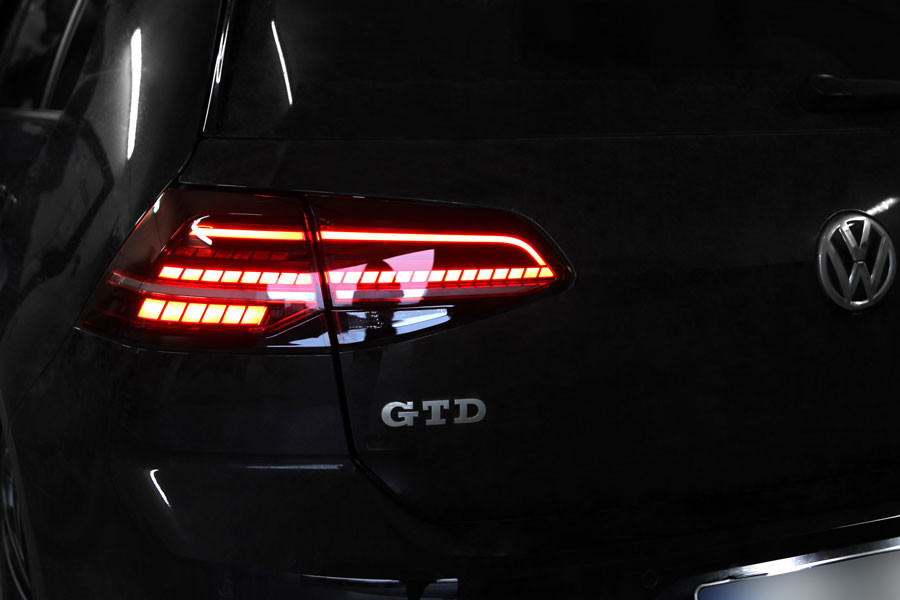 Complete Kit Led Rear Lights For Vw Golf 7 With Dynamic