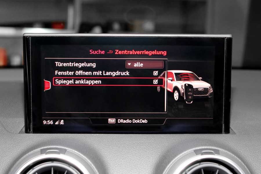 Komplettset anklappbare au enspiegel f r audi q2 ga nachr sten for Audi a6 breite mit spiegel